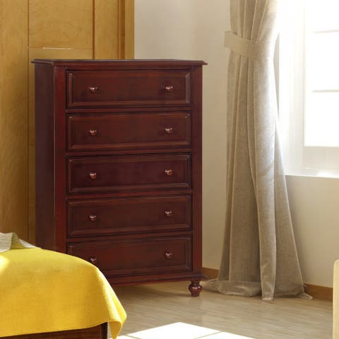 Furniture of America Dole Traditional Solid Wood 5-drawer Youth Chest