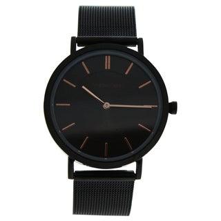 Andreas Osten AO-195 Distrig - Black Stainless Steel Women's Mesh Bracelet Watch