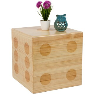 Small decorative wood treasure chest set of 4 by trademark trademark innovations pine wood square 19 inch dice accent table publicscrutiny Image collections