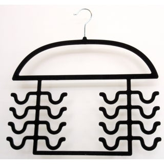 Black Flocked Tank Top Hanger - Set Of 2