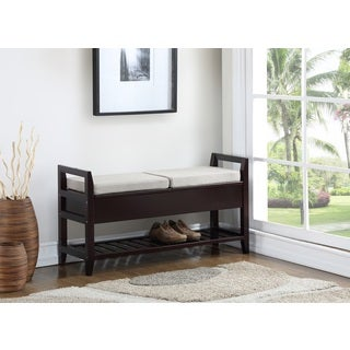 Porch U0026 Den Botanical Heights Klemm Espresso Storage Shoe Bench