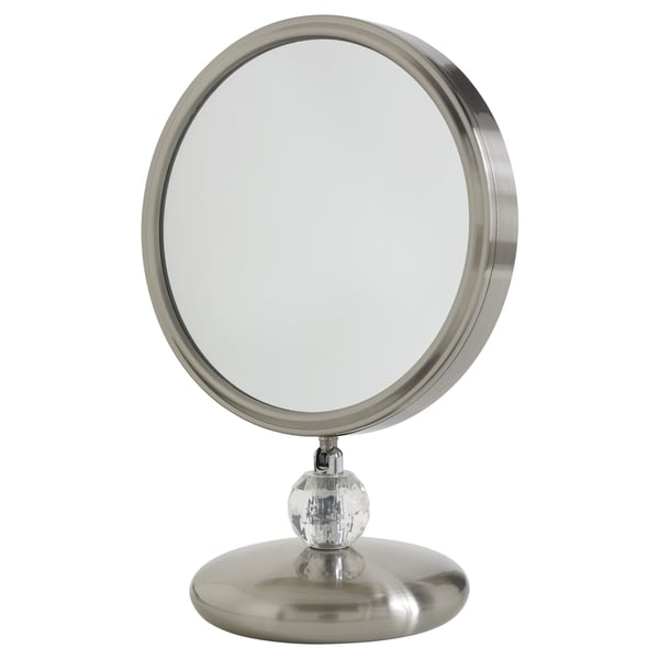 Elizabeth Arden Double-Sided 1x/8x Magnification Makeup Vanity Mirror w/ Brushed Nickel Finish