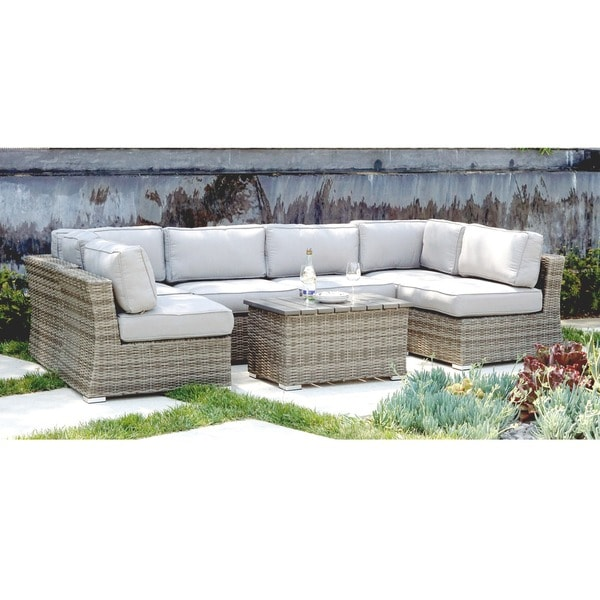 Living Source International Marina 7-piece Outdoor Conversation Set