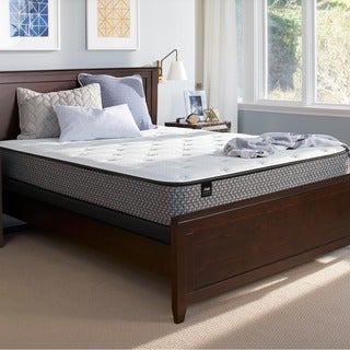 sealy response essentials 12inch plush euro top split queensize mattress set