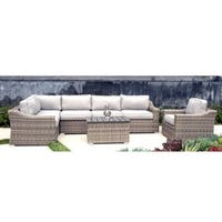 Patio Sofa Set, Marina Conversation Wicker 7-piece Club Set