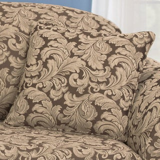 Sure Fit Scroll 18 Inch Square Self-Corded Throw Pillow