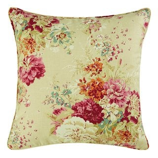 Sure Fit Ballad Bouquet by Waverly 18 Inch Square Pillow Slip with Pillow Insert