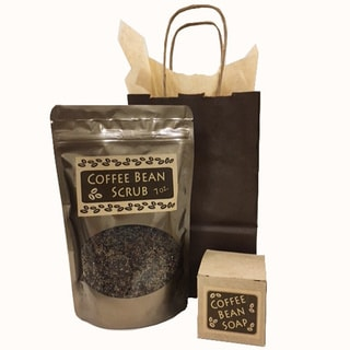 Handmade Coffee Bean Soap and Body Scrub Gift Set (USA)