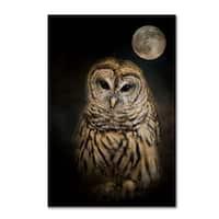 Jai Johnson 'Barred Owl And The Moon' Canvas Art