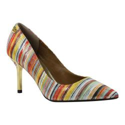 Women's J. Renee Bryanne Pump Bright Multi Metallic Stripe Fabric