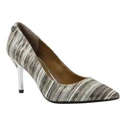 Women's J. Renee Bryanne Pump Gray Multi Metallic Stripe Fabric