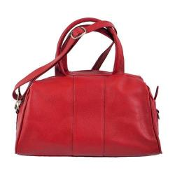 Women's Piel Leather Mini Satchel 3110 Red