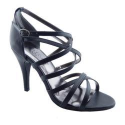 Women's Bellini Majesty Strappy Sandal Black Polyurethane