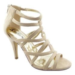 Women's Bellini Missy Strappy Sandal Taupe Microsuede