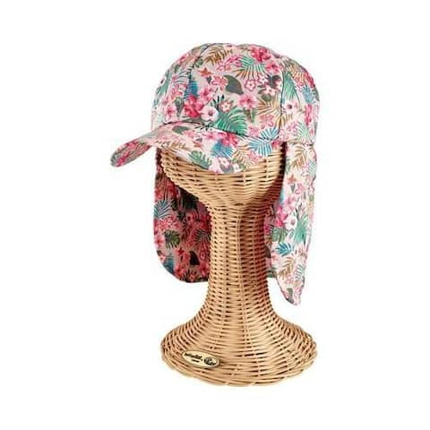 Kids Tropical Hat with Neck Flap by San Diego Hat Company