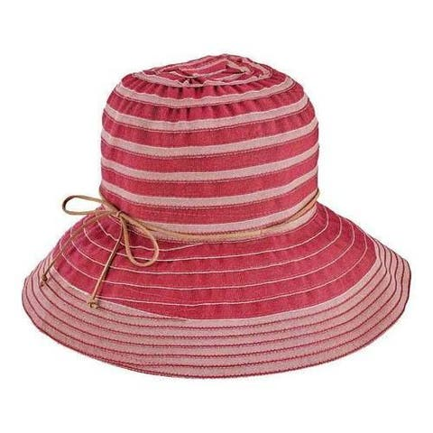 2b959921bcd1e Women s San Diego Hat Company Packable Ribbon Crusher Medium Brim Hat  RBM4774 Wine