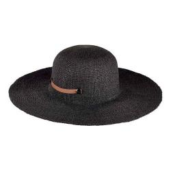 Women's San Diego Hat Company Packable Paper Sun Brim Hat with Tab PBL3079 Black