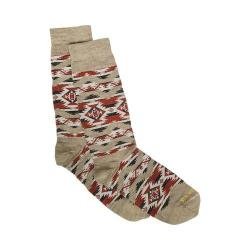 Pendleton Mountain Majesty Crew Sock Fawn/Beige