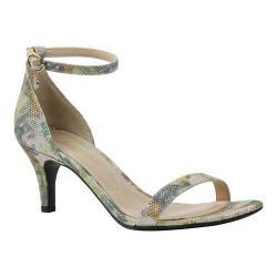 Women's J. Renee Badalona Ankle Strap Sandal Dusty Orange Multi Rose Harlequin Glitter Fabric