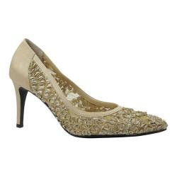 Women's J. Renee Camellia Pointy Toe Pump Champagne Lace/Satin