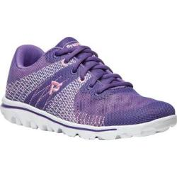 Women's Propet TravelActiv Knit Sneaker Purple/Pink 3-D Knit