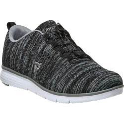 Women's Propet TravelFit Sneaker Black/Grey Knit