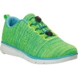 Women's Propet TravelFit Sneaker Lime/Blue Knit