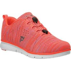 Women's Propet TravelFit Sneaker Orange/Pink Knit