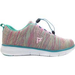 Women's Propet TravelFit Sneaker Turquoise Rain Knit