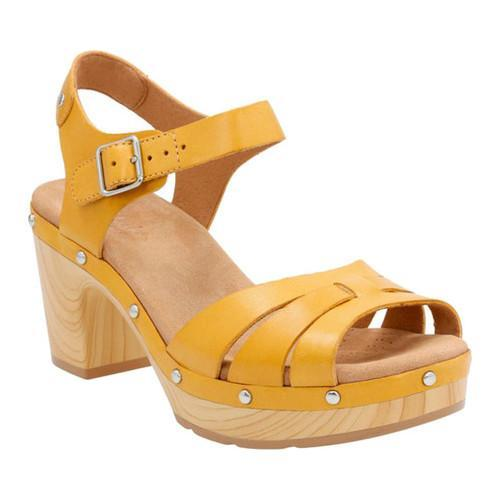 15d442f39ce Shop Women s Clarks Ledella Trail Strappy Sandal Yellow Leather - Free  Shipping Today - Overstock - 14112166
