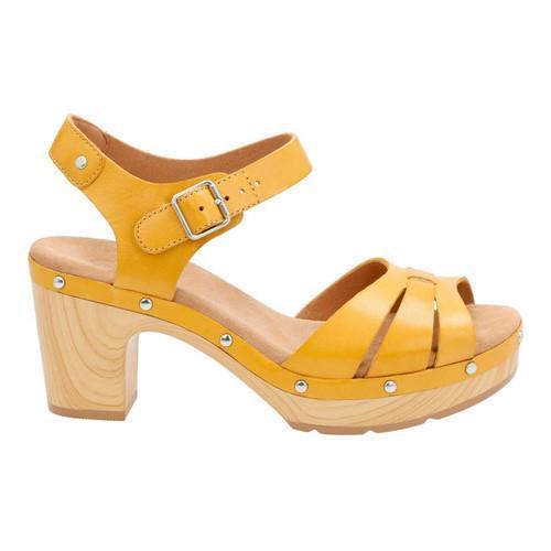 42385763477c ... Thumbnail Women  x27 s Clarks Ledella Trail Strappy Sandal Yellow  Leather ...
