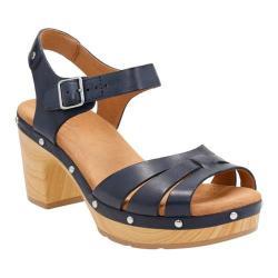 Women's Clarks Ledella Trail Strappy Sandal Navy Leather