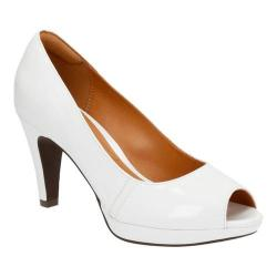 Women's Clarks Narine Rowe White Patent Leather