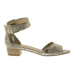 Women's Gabor 65-850 Ankle Strap Sandal Gold Leather