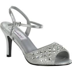 Women's Dyeables Lynn Quarter Strap Sandal Silver Shimmer