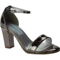 Women's Dyeables Maddox Ankle Strap Sandal Pewter Mirror Patent