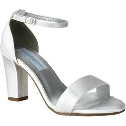 Women's Dyeables Maddox Ankle Strap Sandal White Satin (More options available)