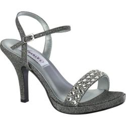 Women's Dyeables Sloane Quarter Strap Sandal Pewter Glitter