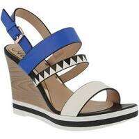 Women's Azura Antonietta Wedge Sandal Blue Multi Synthetic Leather