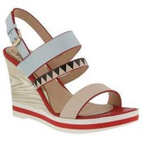 Women's Azura Antonietta Wedge Sandal Sky Blue Multi Synthetic Leather