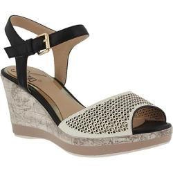 Women's Azura Liefde Perforated Ankle Strap Sandal White Multi Synthetic Leather