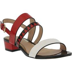 Women's Azura Tresna Tribal Strappy Sandal Red Multi Synthetic Leather