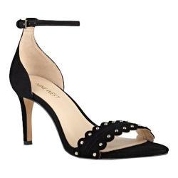 Women's Nine West Idrina Ankle Strap Sandal Black Suede