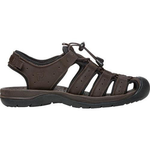 ... Men's Propet Kona Fisherman Sandal Brown Full Grain Leather