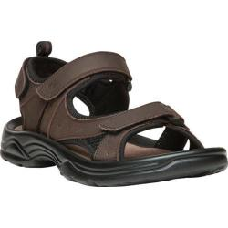 Men's Propet Daytona Adjustable Strap Sandal Brown Full Grain Leather