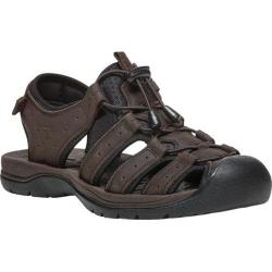 Men's Propet Kona Fisherman Sandal Brown Full Grain Leather