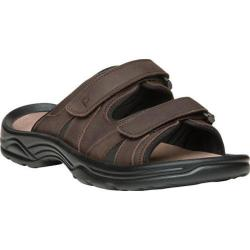 Men's Propet Vero Adjustable Strap Slide Brown Full Grain Leather (More options available)