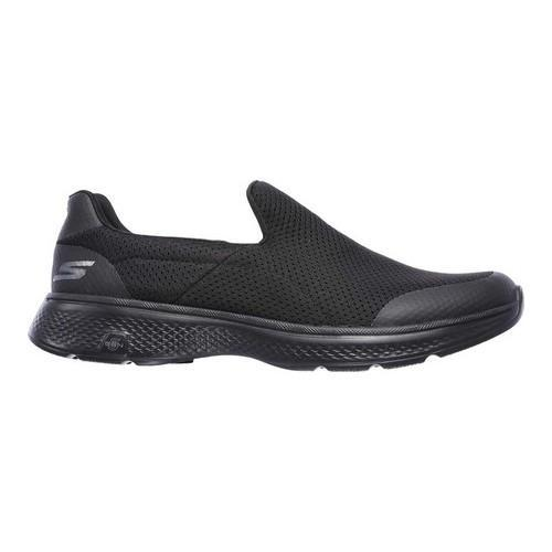 Men's Skechers GOwalk 4 Incredible Slip-On Black - Thumbnail 1