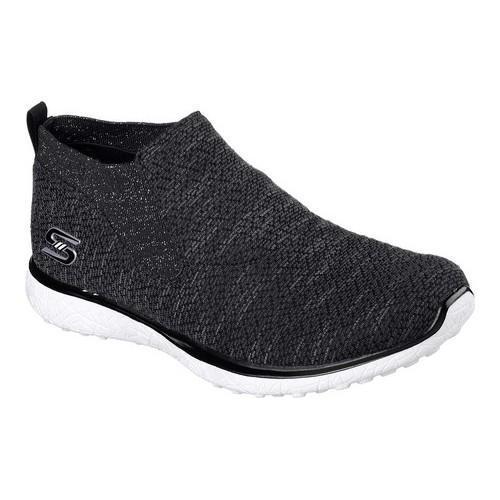 Women's Skechers Microburst Imagination Slip-On High Top Black/White