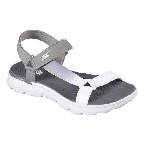 8d3fa989d27c Shop Women s Skechers On the GO 400 Jazzy Sandal Light Gray White - Free  Shipping On Orders Over  45 - Overstock.com - 14143423